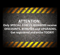 Become a Special Forces Member today!