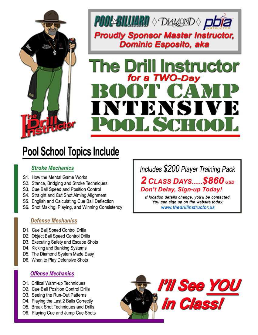 BCI - 2 Day Group BOOT CAMP INTENSIVE Pool School | Simpsonville, SC